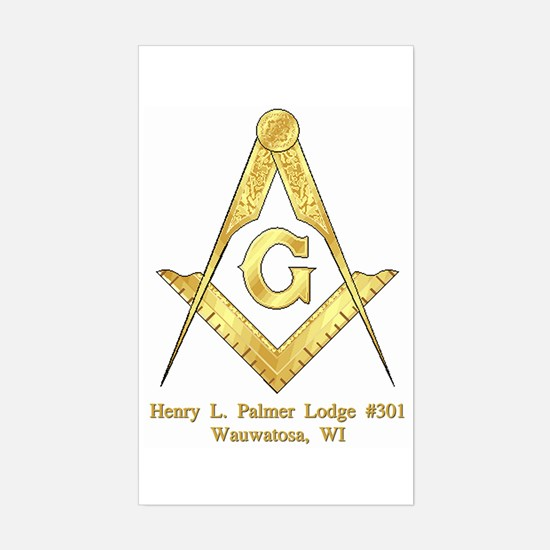 Palmer Lodge Rectangle Decal