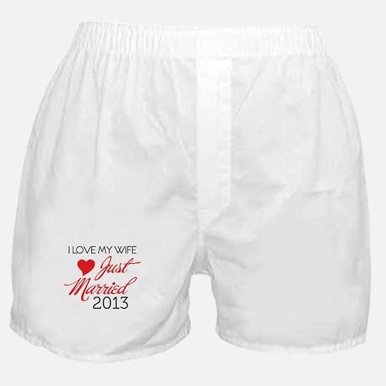 Cute 2013 wedding Boxer Shorts