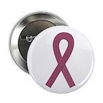Burgundy Ribbon Button