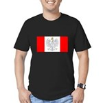 Polish Canadian Men's Fitted T-Shirt (dark)