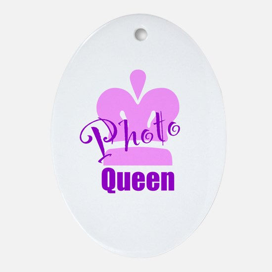 Photo Queen Ornament (Oval)