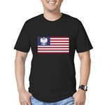 Polish American Men's Fitted T-Shirt (dark)