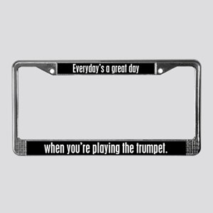 Playing Trumpet License Plate Frame