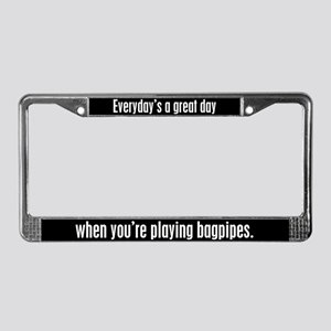 Playing Bagpipes License Plate Frame