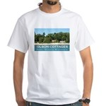 Olson Cottages Door County White T-Shirt