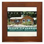 Olson Cottages Door County Framed Tile