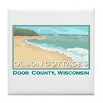 Olson Cottages Door County Tile Coaster
