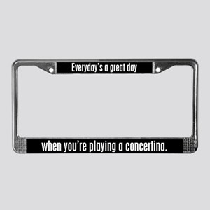 Playing Concertina License Plate Frame