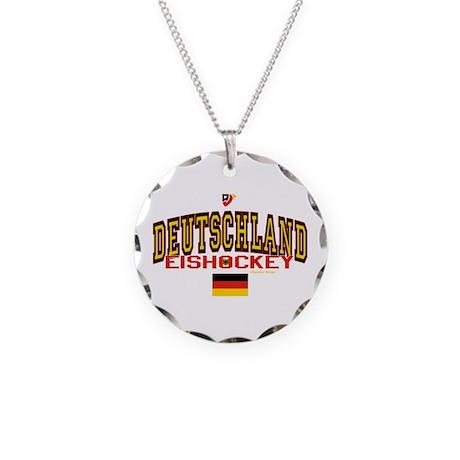 DE Germany Hockey Deutschland Necklace Circle Char