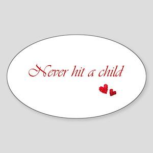 Child Abuse Awareness & Love Sticker (Oval)
