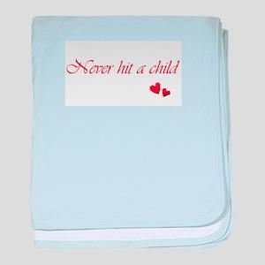 Child Abuse Awareness & Love baby blanket