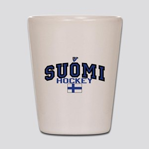Finland(Suomi) Hockey Shot Glass