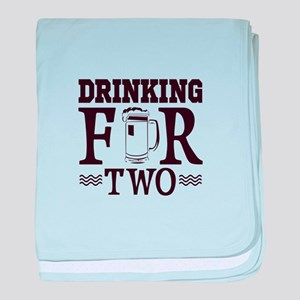 Drinking For Two baby blanket