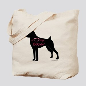 Heart My Boxer Tote Bag
