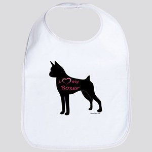 Heart My Boxer Bib