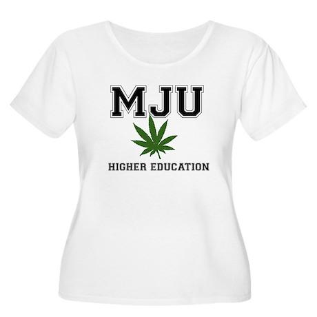 MJU Women's Plus Size Scoop Neck T-Shirt