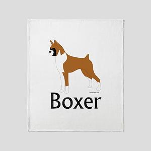 Fawn Boxer Throw Blanket