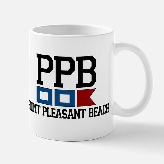 Point Pleasant Beach - Nautical Flags Design Mug