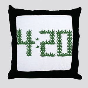 Weed 4:20 Throw Pillow