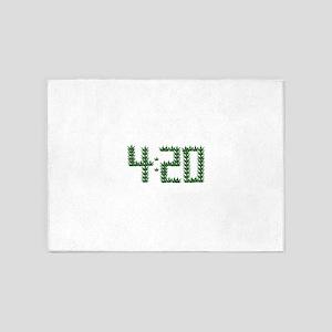 Weed 4:20 5'x7'Area Rug