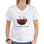 He Boiled For Your Sins Women's V-Neck T-Shirt