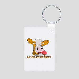 Milk Aluminum Photo Keychain