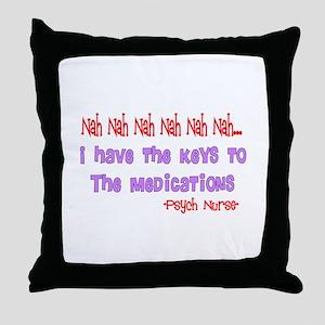 Psych Nurse III Throw Pillow