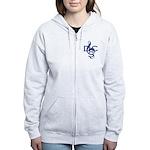 Dcs Womens Zip Front Light Hooded Sweatshirt