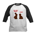 Chocolate Bunnies Kids Baseball Jersey