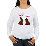 Chocolate Bunnies Women's Long Sleeve T-Shirt