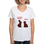 Chocolate Bunnies Women's V-Neck T-Shirt