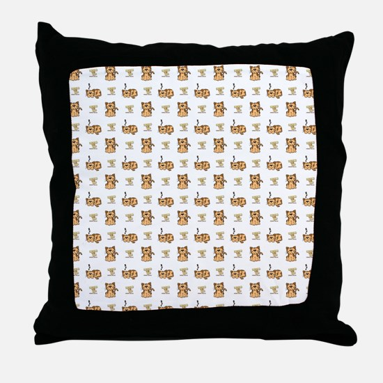 CATS with LOGO Throw Pillow