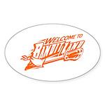 banditland (buufalo bandits) Sticker (Oval 10 pk)