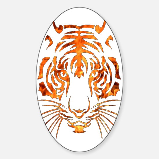 Tribal Flame Tiger Car Accessories   Auto Stickers, License Plates ...