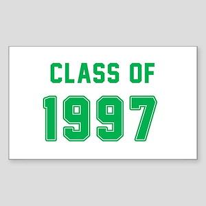Class of 1997 Green Sticker