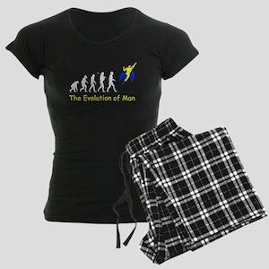 Evolution of Man (for dark cl Women's Dark Pajamas