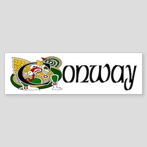 Conway Celtic Dragon Sticker (Bumper)