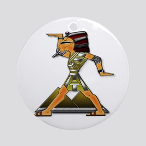 Funky Egyptian Dance Move Ornament (Round)