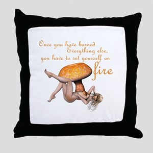Fire Faerie Throw Pillow