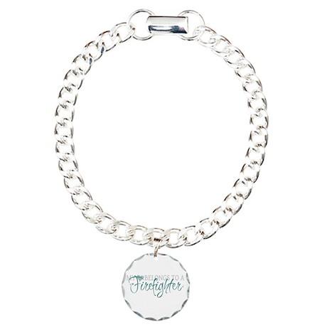 My Heart Belongs to a Firefig Charm Bracelet, One