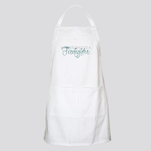 My Heart Belongs to a Firefig Apron