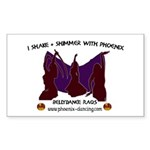 Phoenix of Denver Bellydance Sticker (Rectangle)