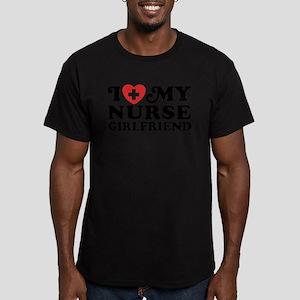 I Love My Nurse Girlfriend Men's Fitted T-Shirt (d