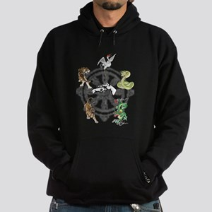 Martial Animal Styles Hoodie (dark)