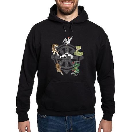 Martial Animal Styles Hoodie (dark)