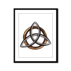 Triquetra Framed Panel Print