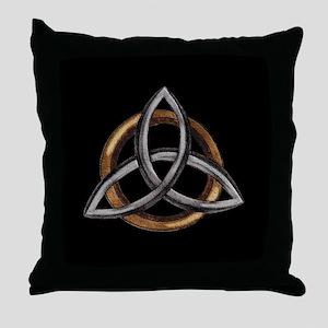 Triquetra Throw Pillow