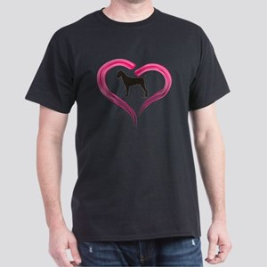 Cane Corso in Pink Heart Dark T-Shirt