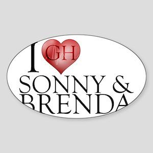 I Heart Sonny & Brenda Sticker (Oval)
