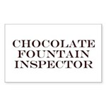 Chocolate Fountain Inspector Rectangle Sticker